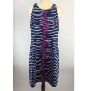 Trina Turk Sheath Dress Womens 14 Purple Stripe